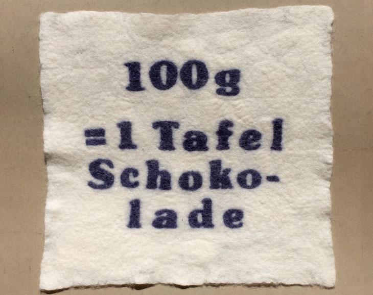 100g Schokolade